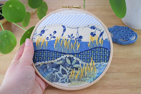 Wedgewood Blue Original Stitchscape