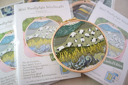 Mini Woollydale Stitchscape Embroidery Kit