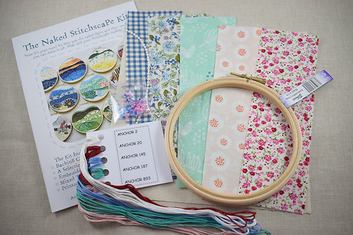 The Naked Stitchscape Embroidery Kit: Spring Pretty Combo