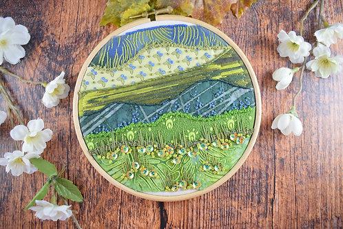 Green Hills Original Stitchscape