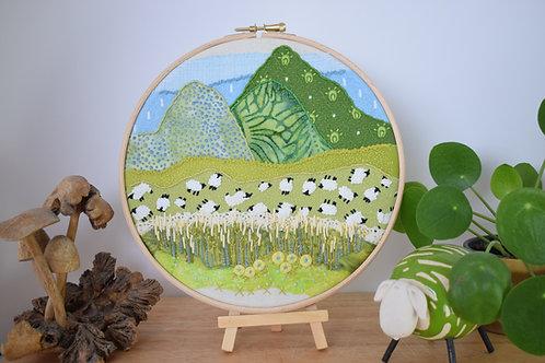 Woollyback Mountain Original Stitchscape