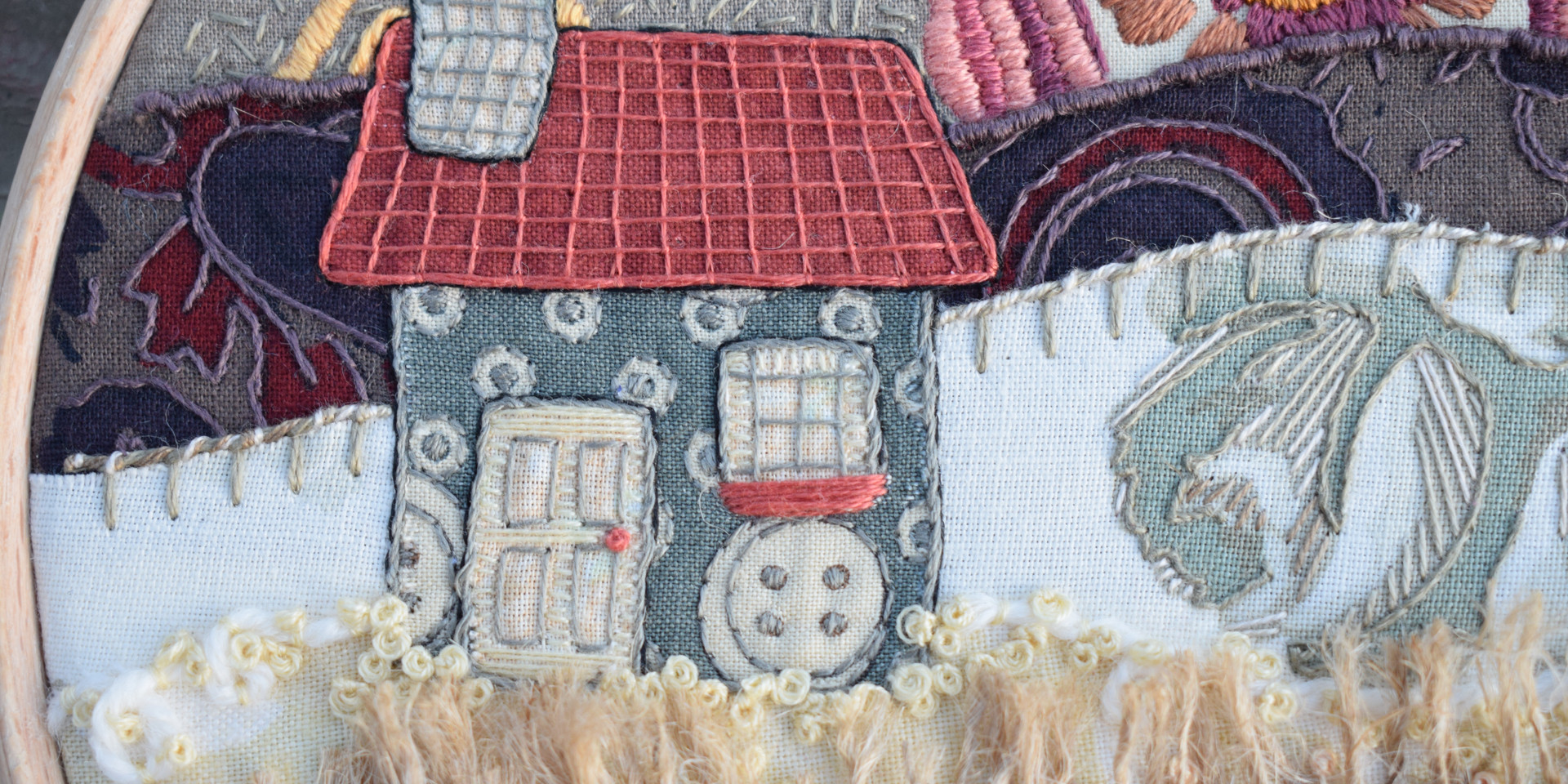 Vintage House Stitchscape Detail