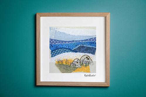 Beach Rocks Mounted Print