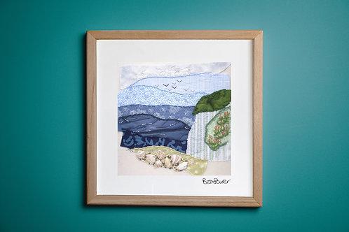 White Cliffs Mounted Print