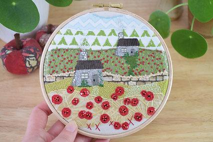 Poppy Lane Original Stitchscape