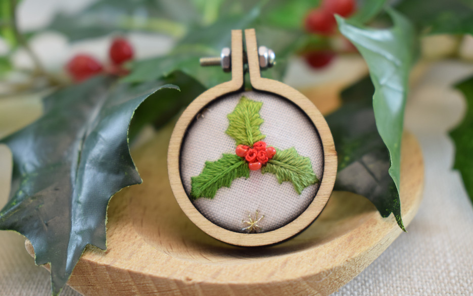 Christmas Holly Magnet