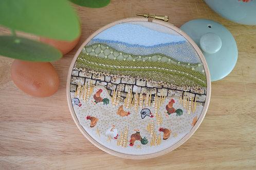 Hen Pecked Original Stitchscape