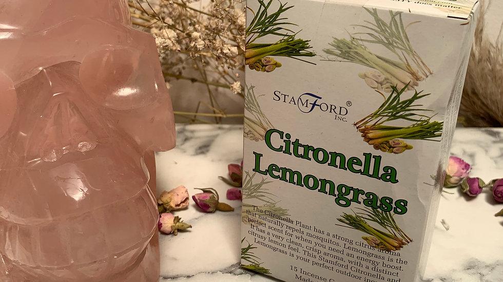Citronella Lemongrass Incense Cones