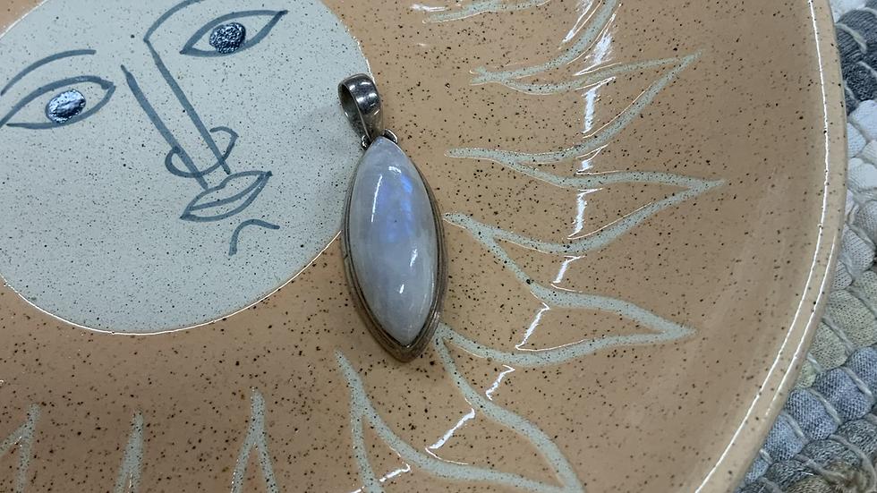 VINTAGE Sterling Silver Moonstone Pendant