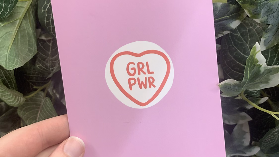 GRL PWR Postcard