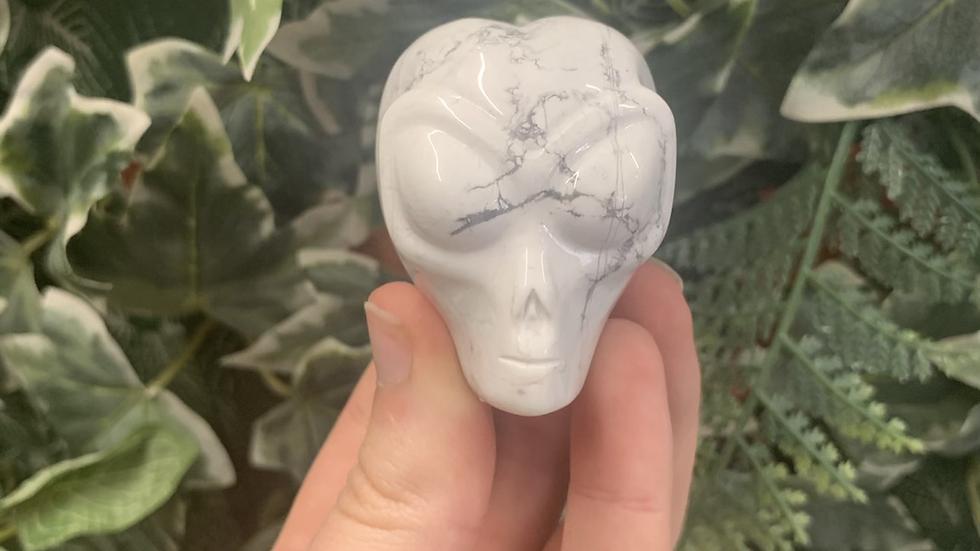 Howlite Alien Head