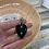 Thumbnail: Large VINTAGE Sterling Silver Obisidian Necklace Pendant