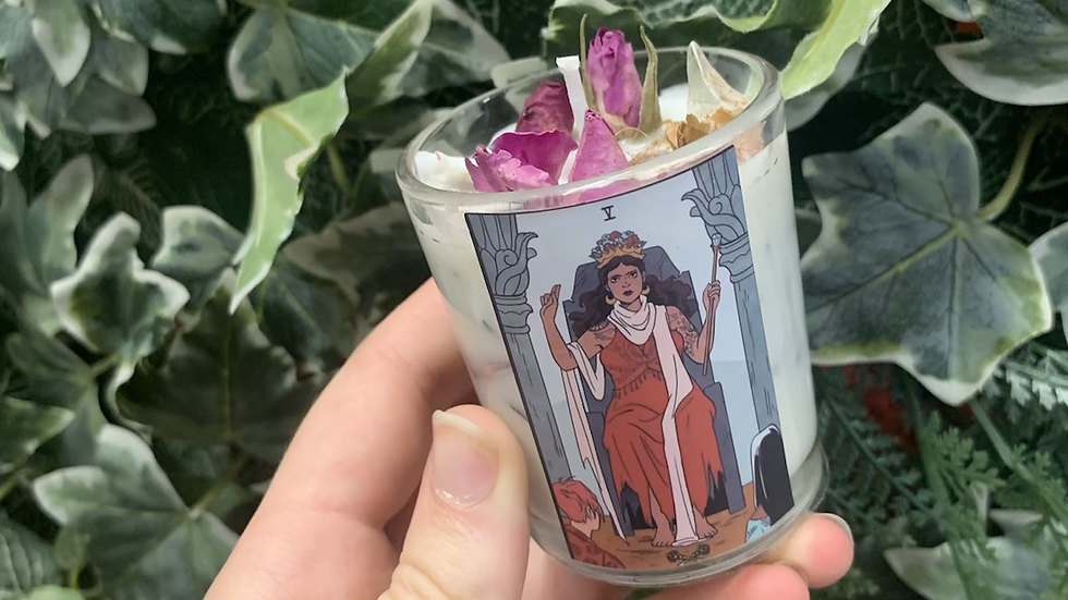 Tarot Rose Scented Candle