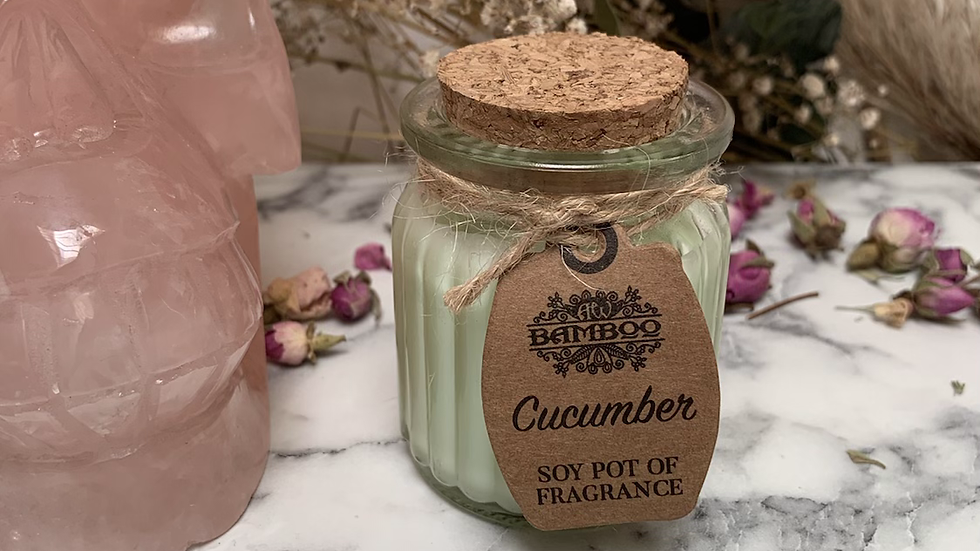Cucumber Scented Soy Candle