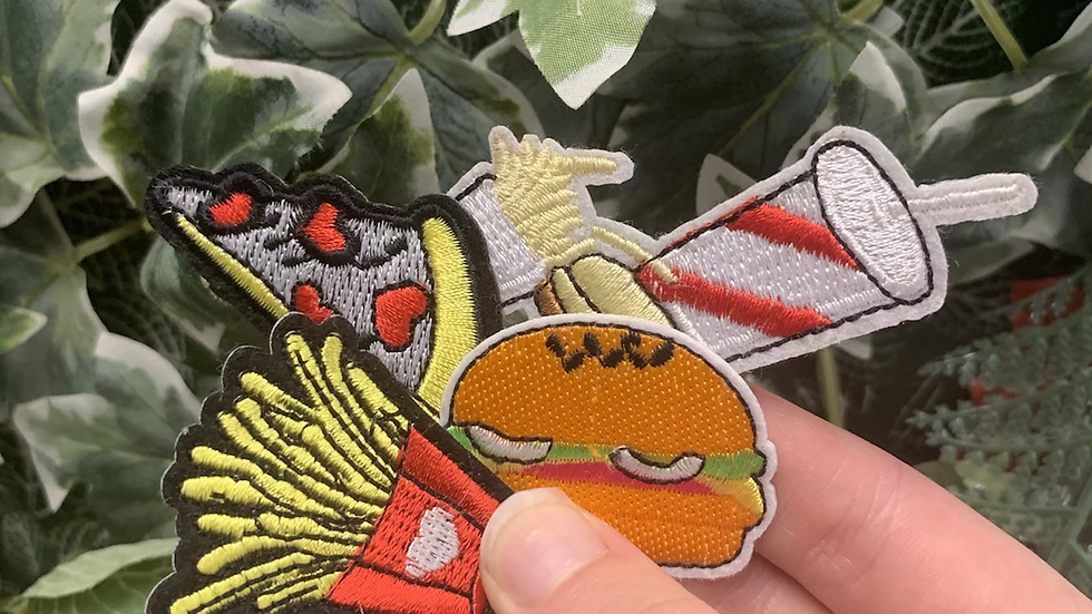 Fast Food 4-pack iron on patch bundle