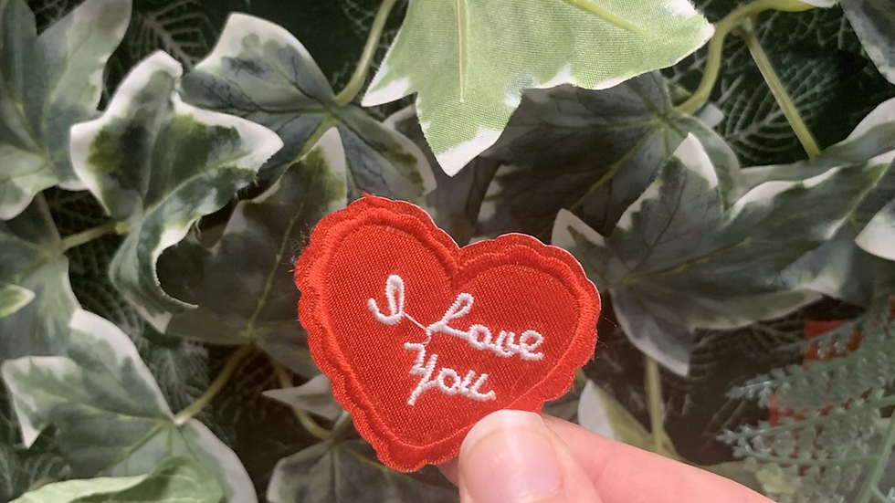 I Love You Heart Iron on Patch