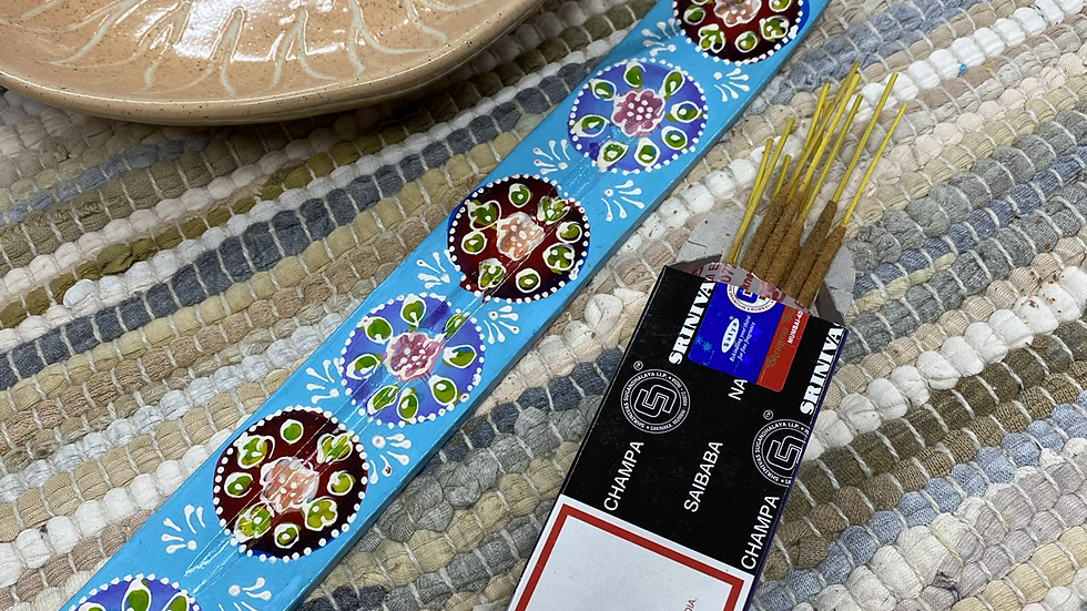 Hand Painted Incense Holder
