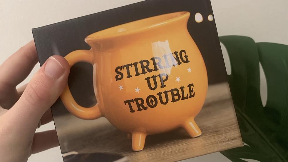 Stirring Up Trouble Orange Cauldron Mug