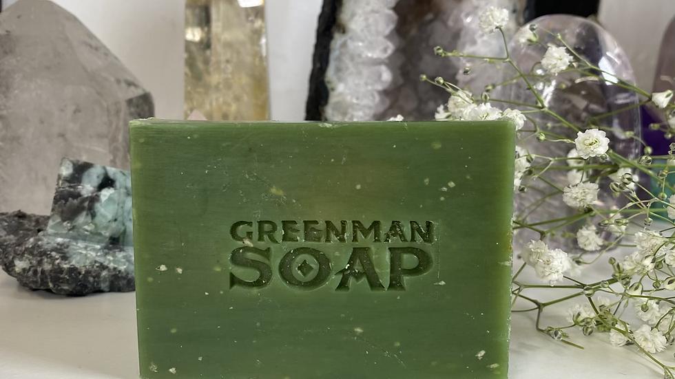 Lemon & Basil Vegan Greenman Soap