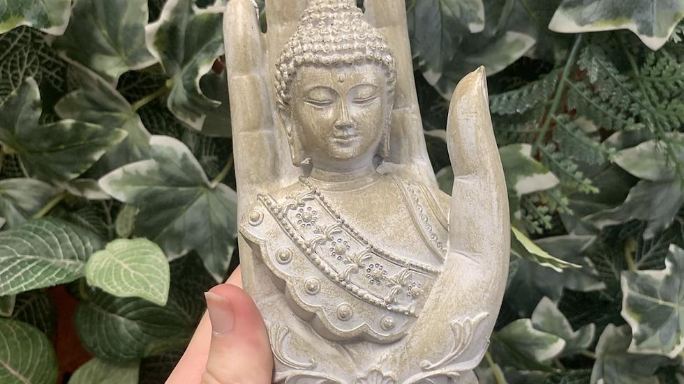 Silver Buddha Figure
