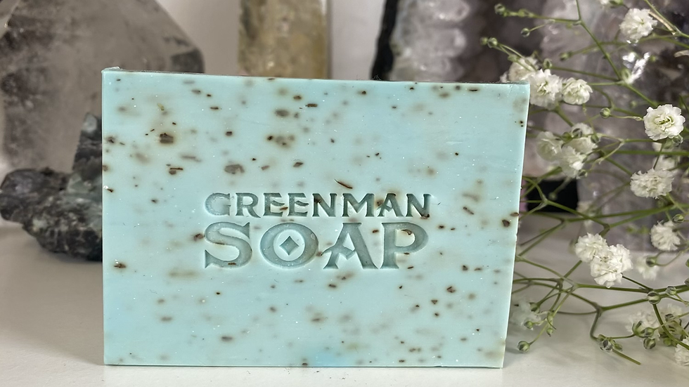 Frankincense & Bergamot Vegan Greenman Soap