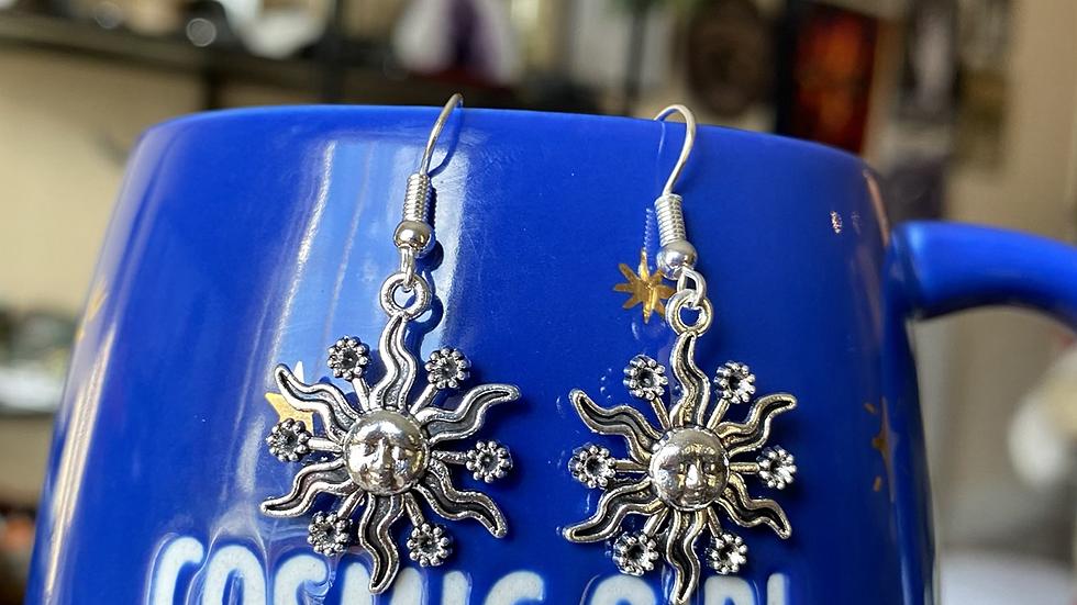 Celestial sun Earrings