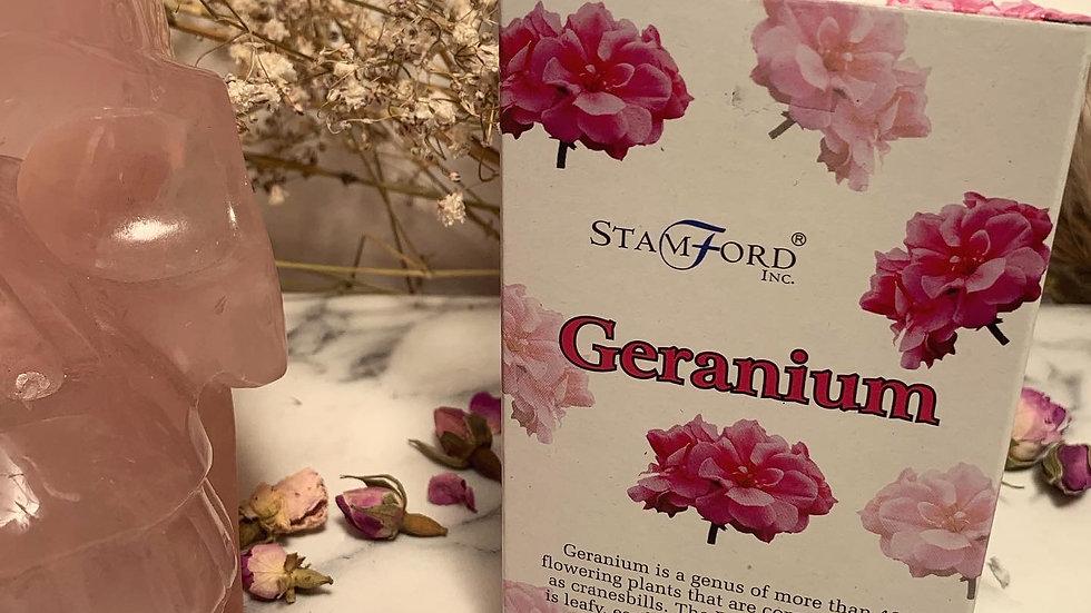 Geranium Incense Cones