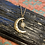 "Thumbnail: Crescent Moon 18"" Gold Plated Necklace"