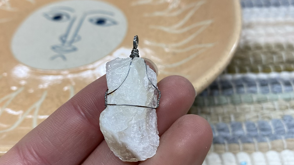 Wire Wrapped Calcite Pendant