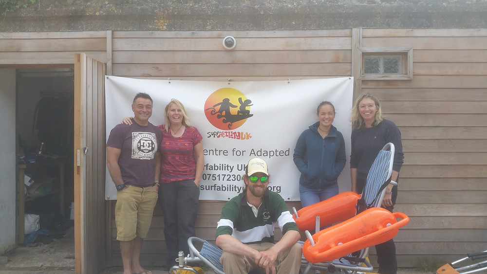 The Surfability Team and I down at Caswell Bay