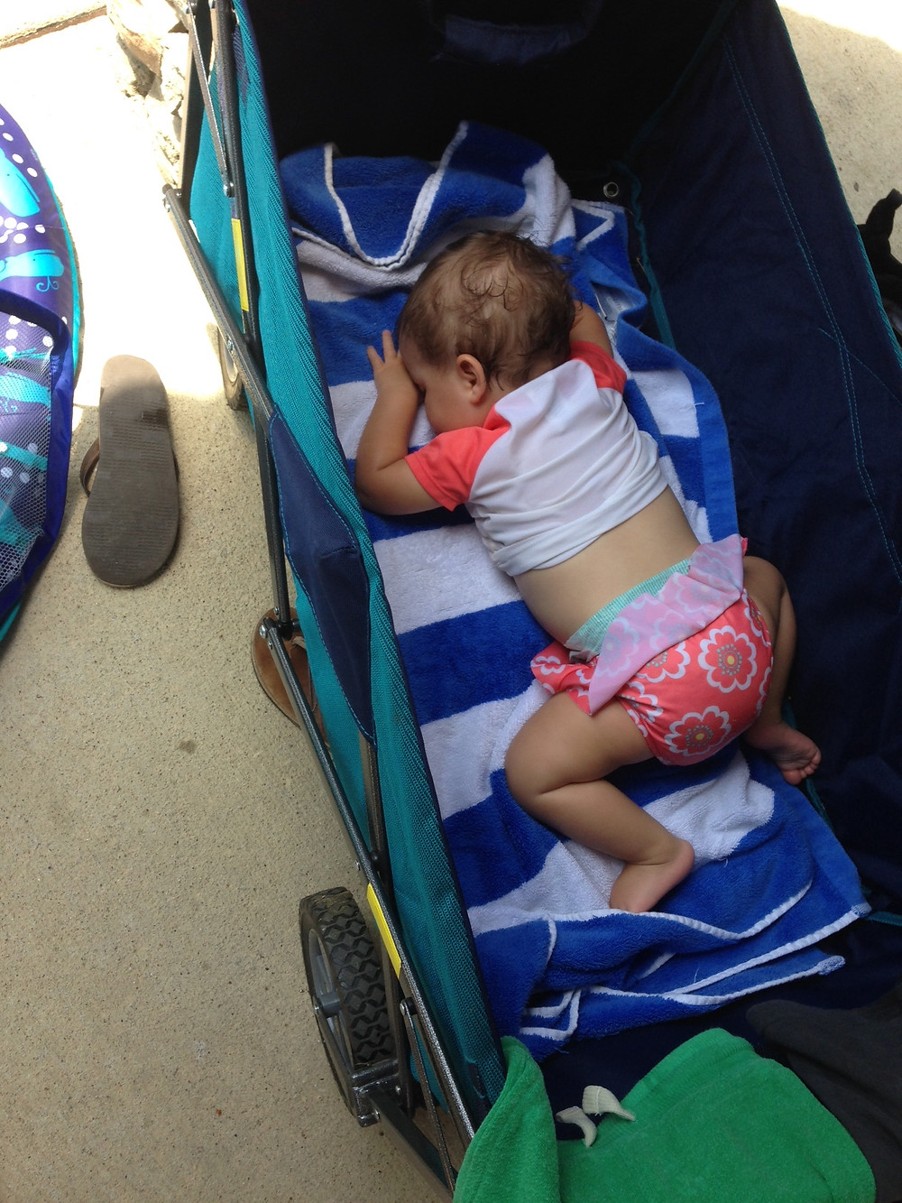 collapsable wagon, stroller hack, born happy, pool, naps, toddler, parent coach