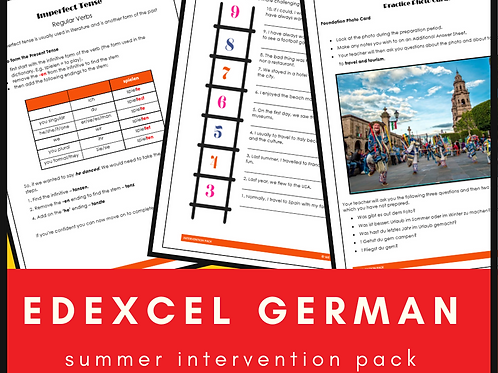 German Edexcel Intervention Pack