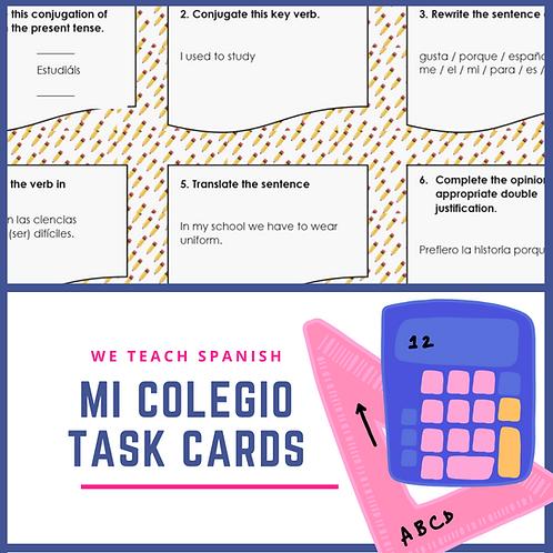 Mi Colegio Task Cards