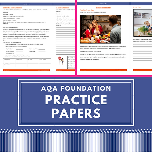 AQA Foundation Practice Papers