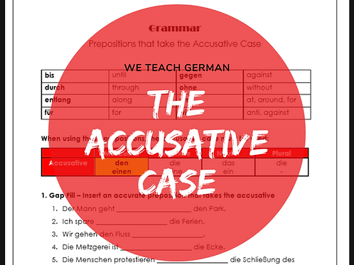 Prepositions that take the Accusative Case