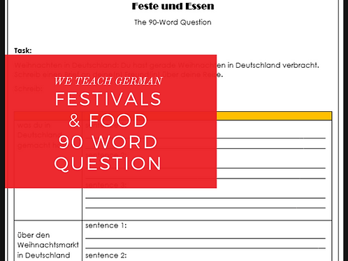 Festivals & Food 90 Word Question