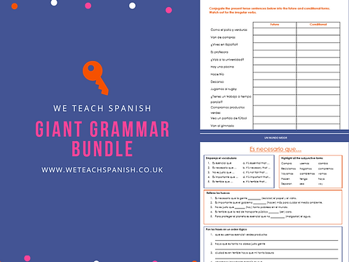 Giant Grammar Bundle - 27 worksheets