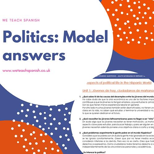 Politics: Model Answers