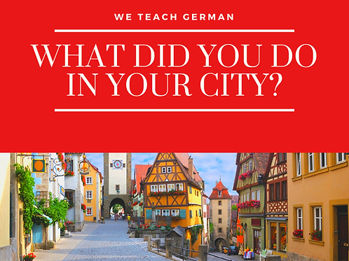 What did you do in your city?