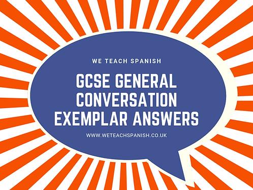 General Conversation - Exemplar questions & model answers