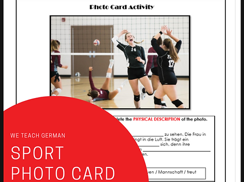 Sports Structure Photo Card