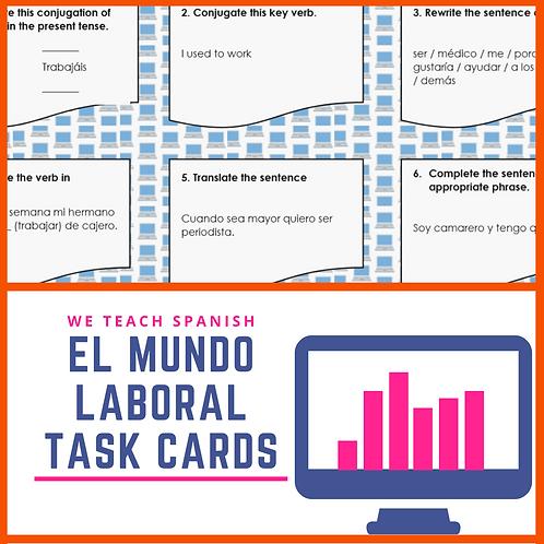 El Mundo Laboral Task Cards