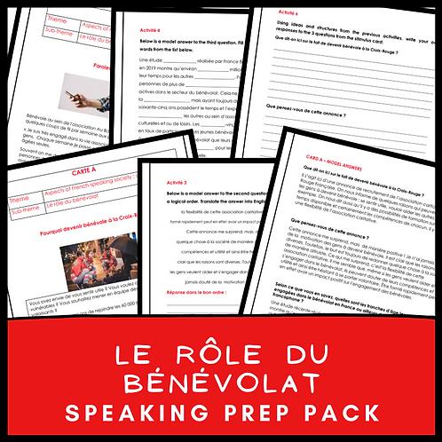 Le rôle du bénévolat Speaking Pack