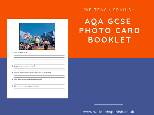 AQA Photo Card Booklet