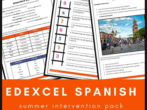 Spanish Edexcel Intervention Pack