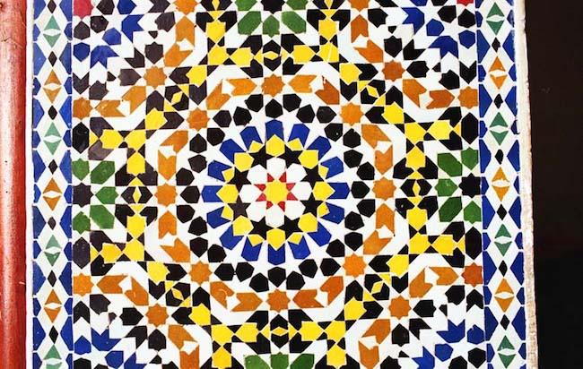 Zellij, Radial. Fes, Morocco.