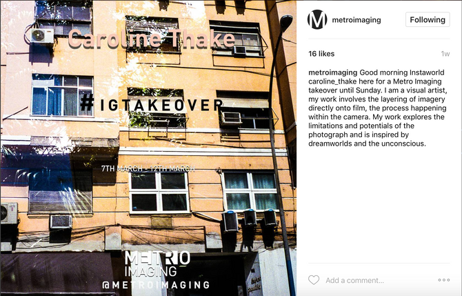 Metro Imaging, Instagram Takeover