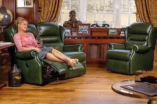 Sherborne Ashford Leather Recliner Sofa