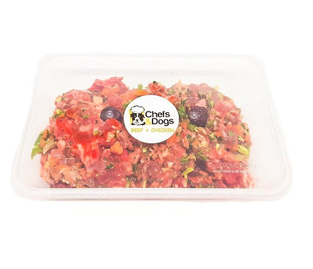 Raw Beef + Chicken Meals For 20-40kg Dogs
