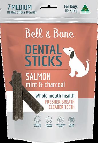 Salmon, Mint & Charcoal Dental Sticks Medium
